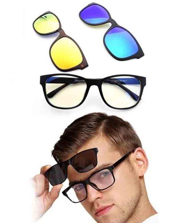 نظرات Magic Vision متكونة من 3 عدسات ؛  1- الشفافة : عدسة واضحة تجعل أي شاشة إلكترونية أسهل للقراءة، في الداخل أو خارج 2- الذهبية: تقلل الضوء مسبب للعمى فليل مناسبة جدا للسياقة فليل  3-الأزرق = العدسة المستقطبة:عدسة معكوسة من الأشعة فوق البنفسجية الضارة في الشمس أثناء النهار لإرسال طلبك إضغط على الرابط : https://bigshoppingdz.com/product/order?id=24 سعر المنتج 3500 دج فقط + مصاريف الشحن 400 دج فالعاصمة ؛ 600 دج لباقي الولايات  لإستفسار أكثر إتصل على : 0541770055 #femalegears.com #random…