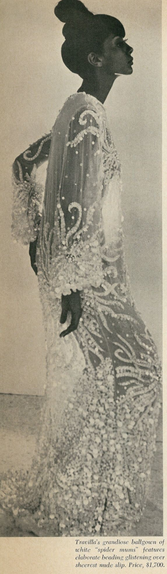 All sizes | 1966 Revealing Fashions, Fashion Fair, Beaded Ballgown by Travilla | Flickr - Photo Sharing!