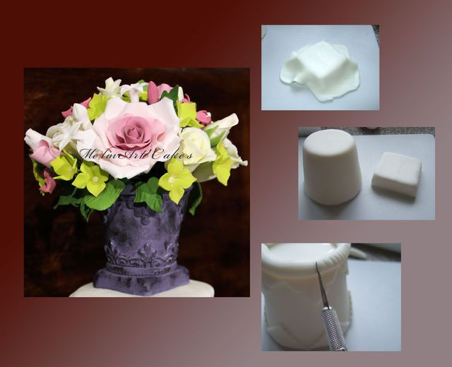 Gumpaste Vase Fondant Gum Paste Inspiration Pinterest