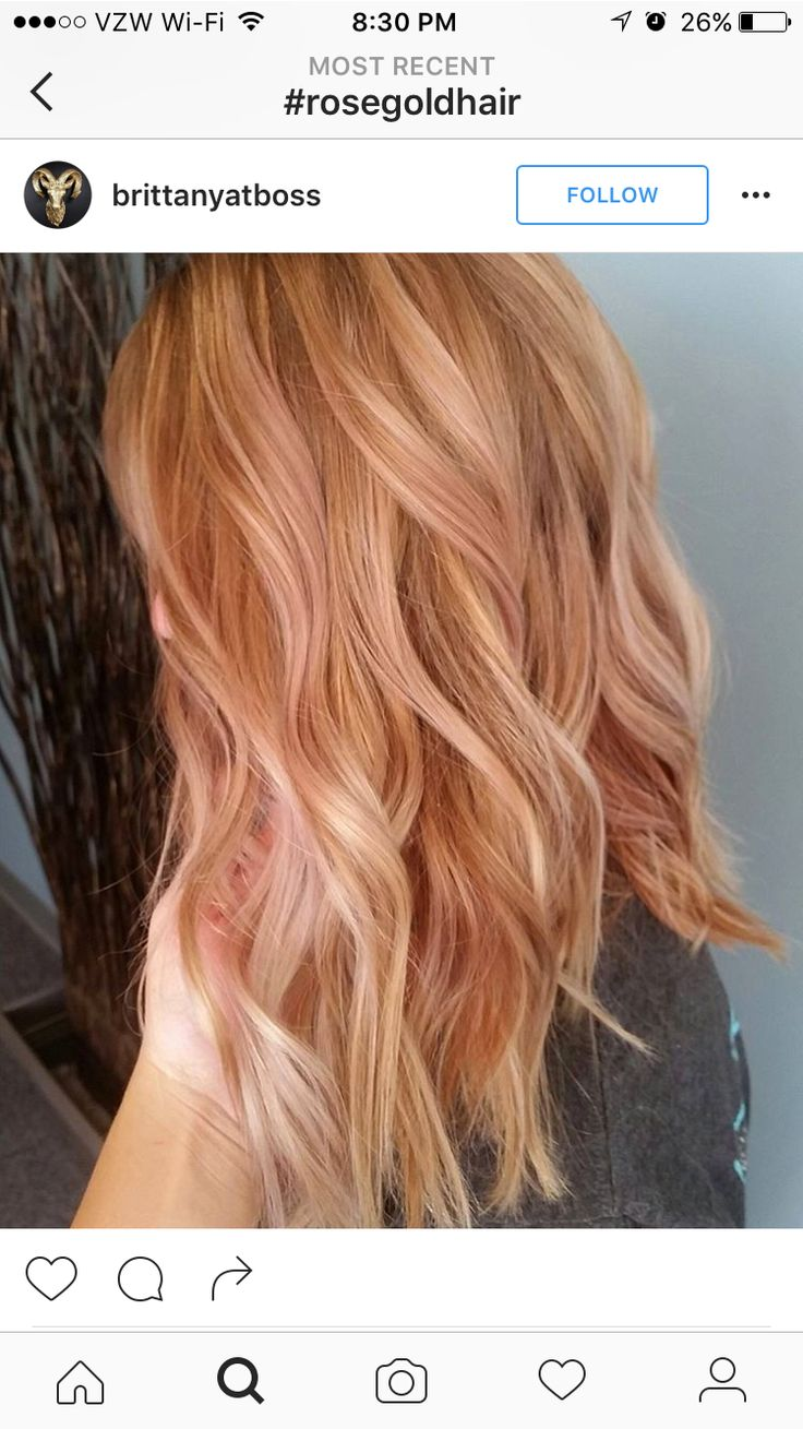 Rose Gold Long Hair . . . Kinda 'Strawberry Blonde,' but not quite.