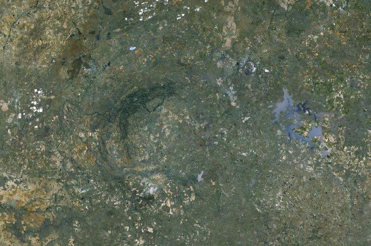 Vredefort Dome Central Uplift - Google Earth