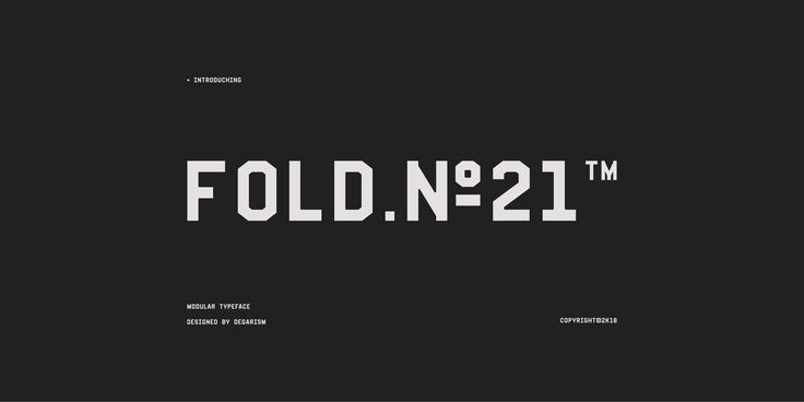 Fold No.21 is a monospaced sans-serif typeface, With Strong Character inspired by Machine technology and airports signage, Available in Single weight supports Standard Western and Latin Extended characters, offers you plenty of choices for many different …