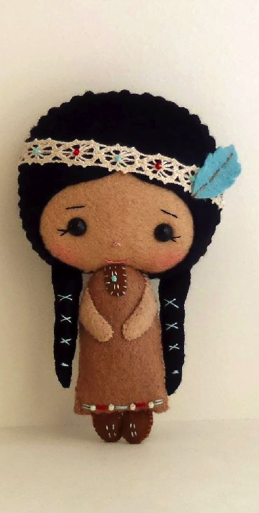 Native American Girl pdf Pattern. So cute can anyone make this for me! ?