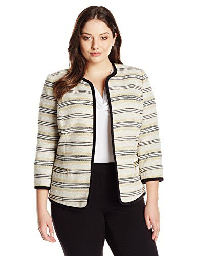 Kasper Women's Plus-Size Tweed Framed Jacket, Ivory/Multi... http://www.amazon.com/dp/B017G0L54G/ref=cm_sw_r_pi_dp_5tdoxb1JKB7GS