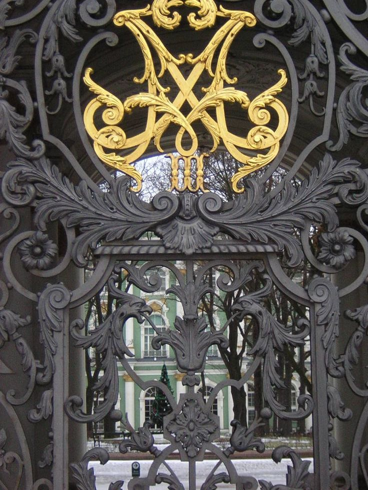 Gates to the Winter Palace - St. Petersburg, Russia