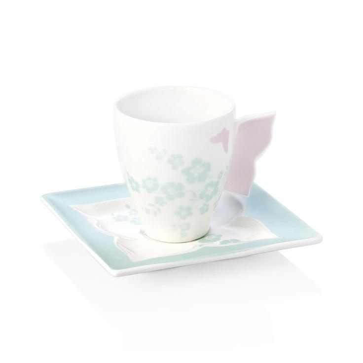 Butterfly Kahve Fincanı / Coffee Cup #bernardo #coffee #turkishcoffee #turkkahvesi #breakfast