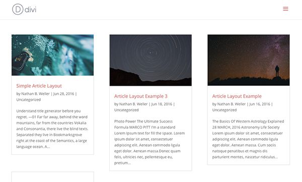 Divi: Masonry Layout on Archive Pages
