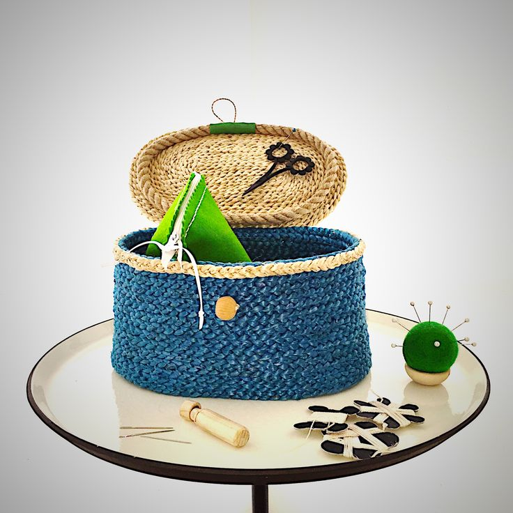 SEE THEM AT BIRDIEBROWN'S WEBSITE New range of sweet little jute sewing baskets and accessories.  Rare as hen's teeth!
