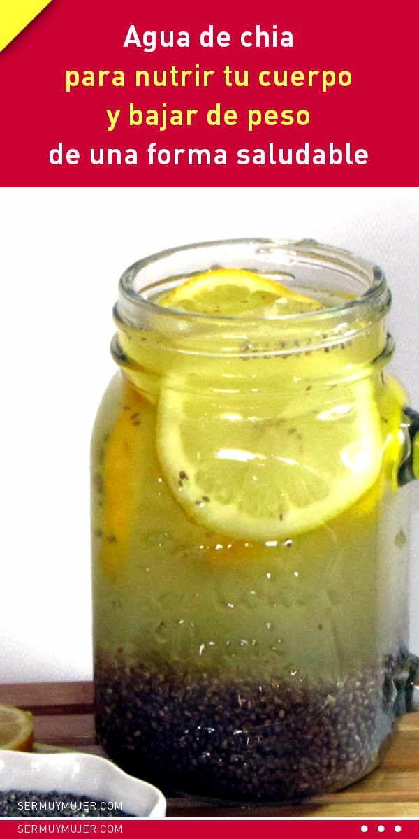 Agua de chia para nutrir tu cuerpo y bajar de peso de una forma saludable #agua #detox #désintoxication #bebida #adelgazar #bajardepeso