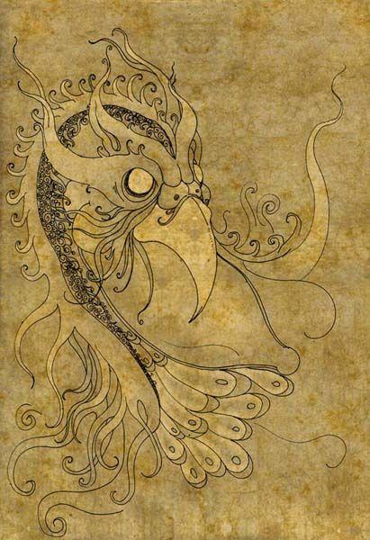 GORGEOUS illustrations     zumrudu anka by ~mahlukat on deviantART