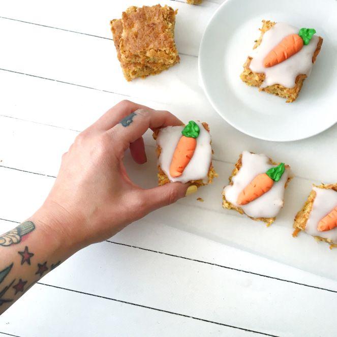 Rüeblischnitte (Karotten im Quadrat)