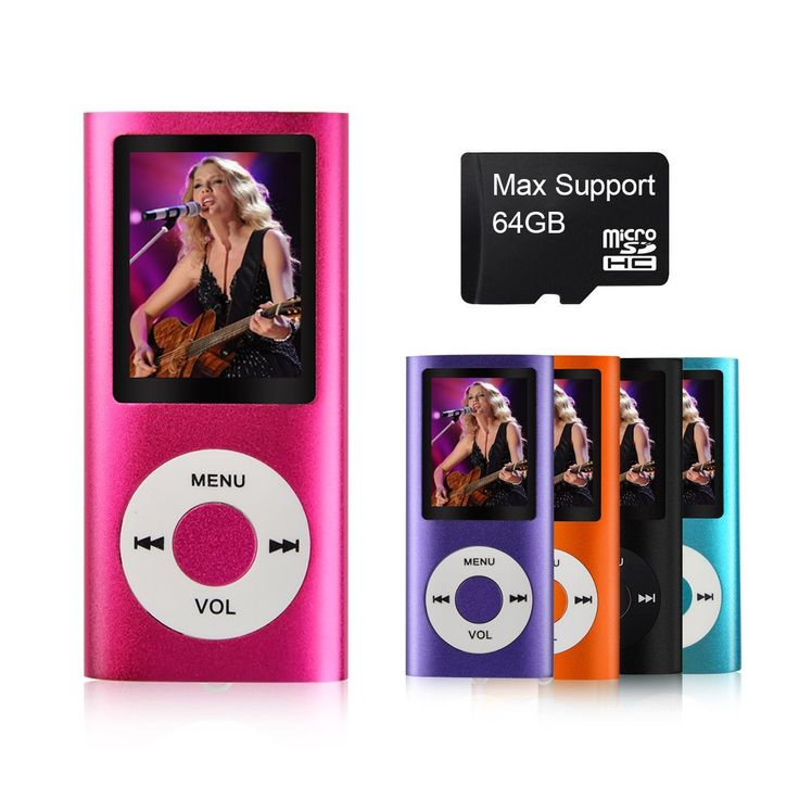 MYMAHDI Digital Compact and Portable MP3 / MP4 Player with Photo Viewer, E-Book Reader and Voice Recorder and FM Radio Video Movie, Pink...for more details and buying visit link