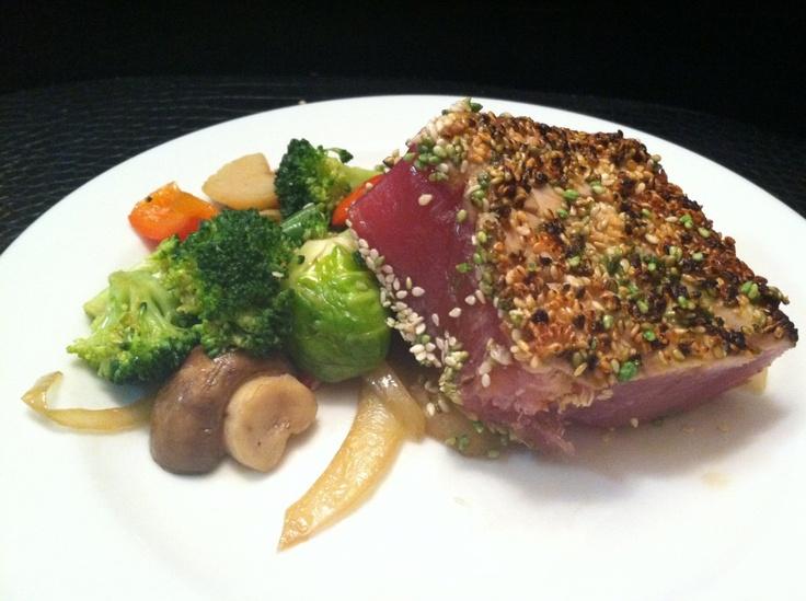 recipe: pan seared tuna with wasabi sauce [28]