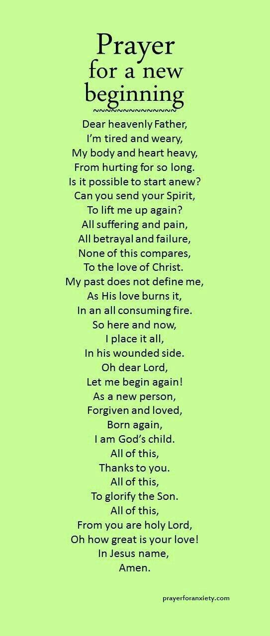 Prayer 4 a new beginning