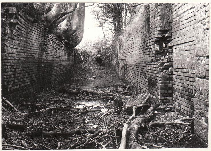Lee Farm Lock on the Wey & Arun Canal. Photo taken in 1978.