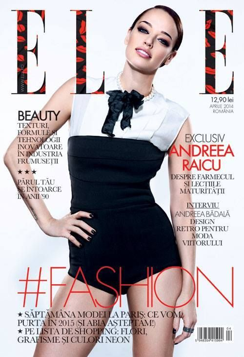 Elle magazine cover. Laura8 pearls necklace.  https://www.facebook.com/laura8official