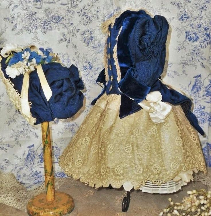 ~~~ Elegant French Bebe Silk Costume with Bonnet ~~~ from whendreamscometrue on Ruby Lane