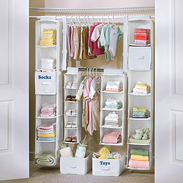 Maximize closet space for all those tiny clothes! Yes please!