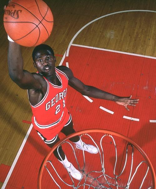 Georgia forward Dominique Wilkins dunks during a 1981 SI photo...