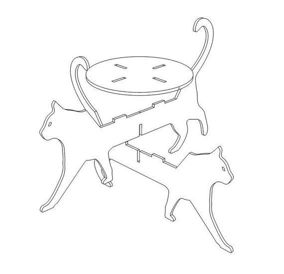 SOPORTE de la maceta del gato plantilla archivo por CncFactory                                                                                                                                                                                 Más