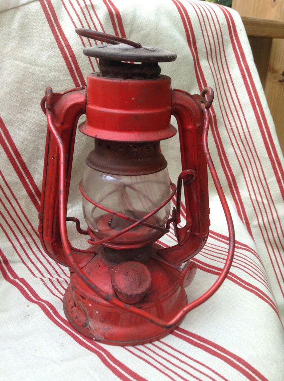 Vintage Winged Wheel Red Lantern No 350 Made in by FlyingFigs, $14.65