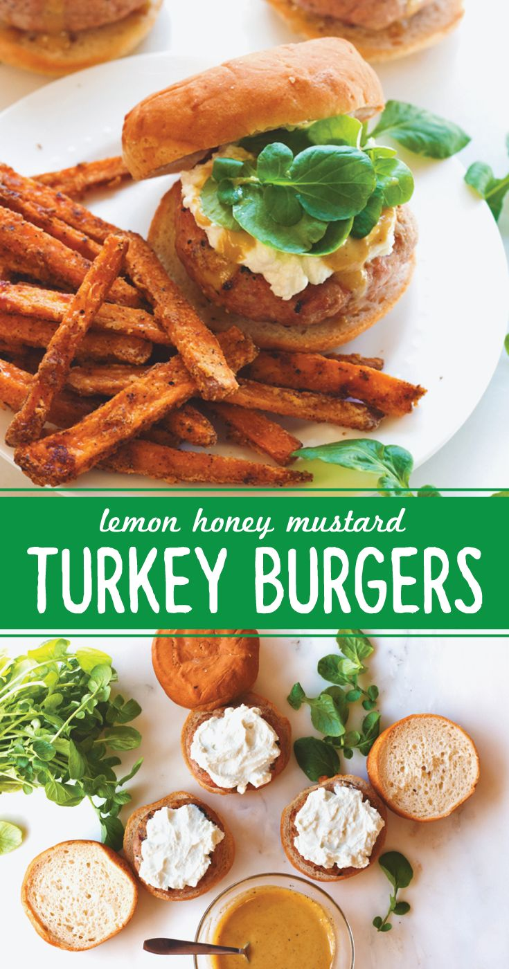 Shake up your grilling with these Lemon Honey Mustard Turkey Burgers ...