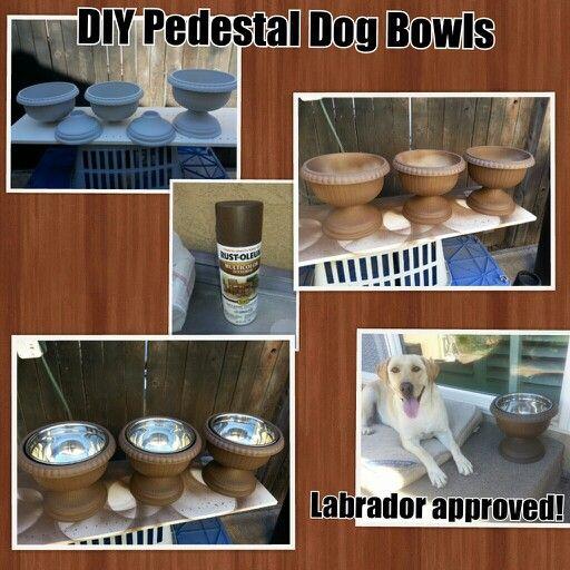 DIY Pedestal Dog Bowls