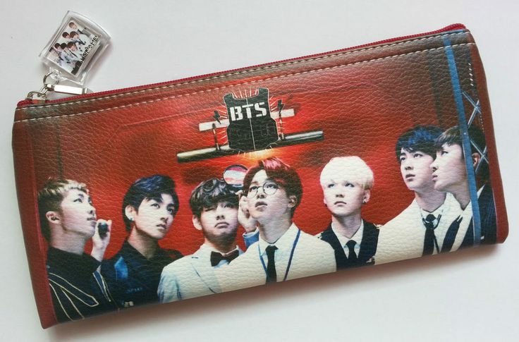 BTS Bangtan Boys Photo Pencil Case Cosmetic Pouch Make Up Pouch KPOP Korea Gift