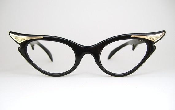 Cat eye glasses, $124. Etsy