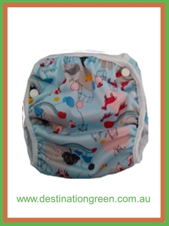 Destination Green Swim Nappy - farm, $16.00