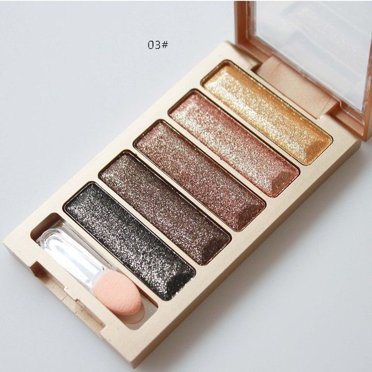 5 Colors Diamond High Quality pigment makeup eyeshadow pallette to eye kit maquiagem eye shadow beauty naked pallette