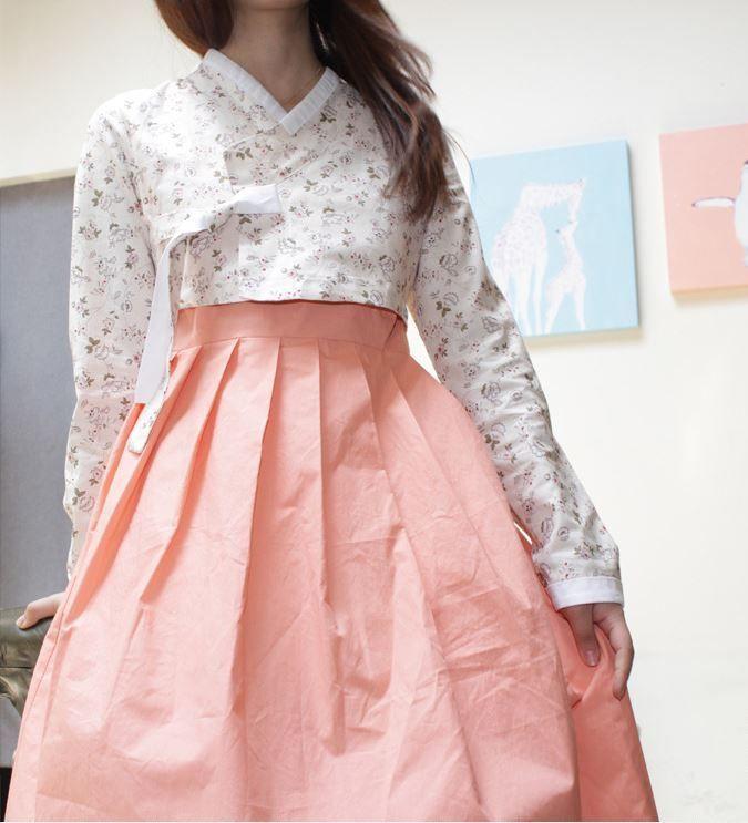 CASUAL HANBOK / JEOGORI Korean / Girls Top / M Size / Spring-Flower Jeogoli #WAYYU
