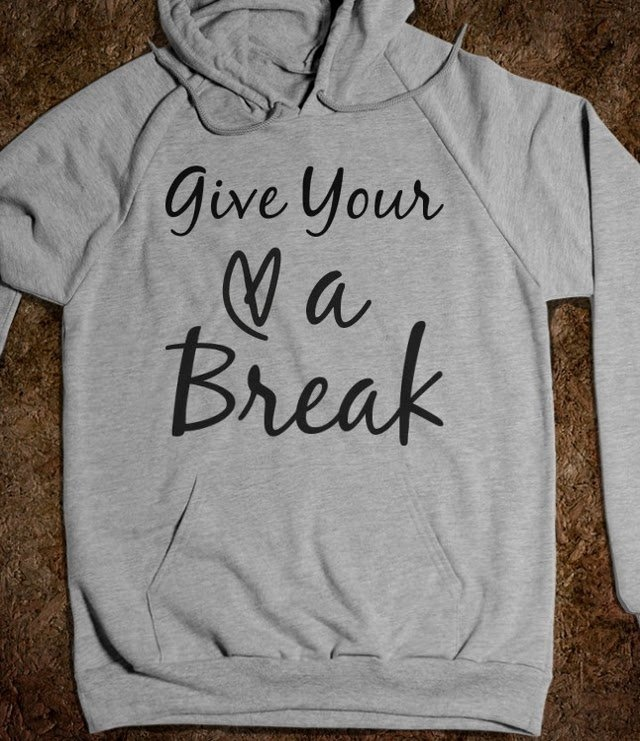 Give Your Heart a Break Hoodie - Devoted Lovatic - Skreened T-shirts, Organic Shirts, Hoodies, Kids Tees, Baby One-Pieces and Tote Bags