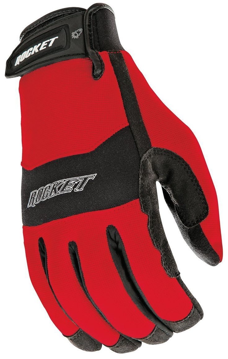 Joe Rocket RX14 Crew Touch Men's Motorcycle Riding Gloves Red/Black