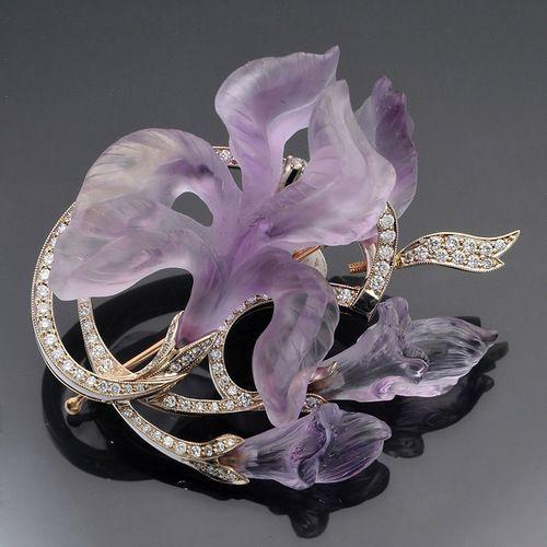 Art Nouveau Faberge iris