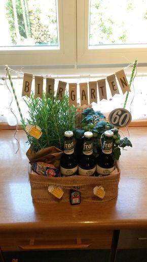 Biergarten 60 Geburtstag Geschenk Geschenk Mann Pinterest