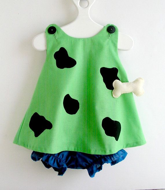 Baby and Toddler Green Pebbles Flintstone Costume by peapodray, $48.00