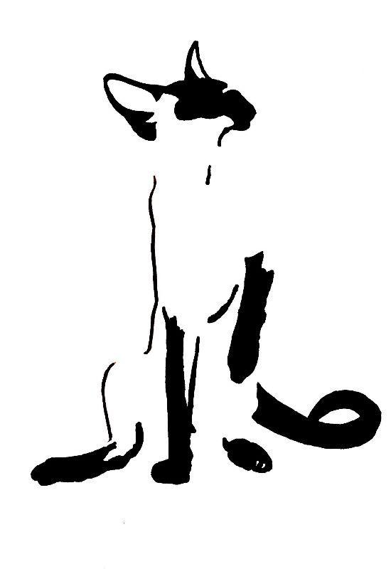 Siamese Cat Minimalism by zizilagadec
