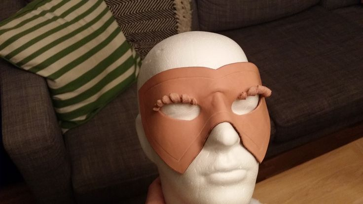 My first leather mask in the making