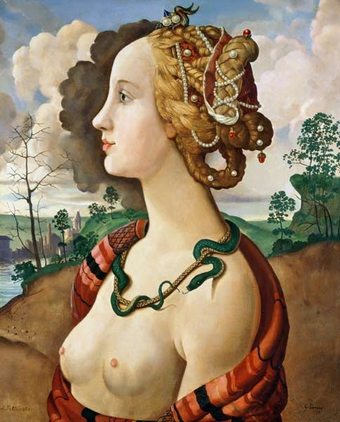 Sandro Botticelli - Copy of Simonetta Vespucci (1453-76) by Sandro Botticelli (1444/5-1510) (oil on canvas)