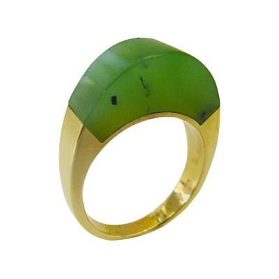 Cartier Nephrite and Gold Ring by   Cartier