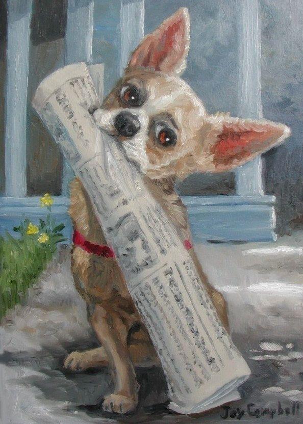 Newspaper Carrier Day - Joy Campbell.   Art - Joy Campbell ...