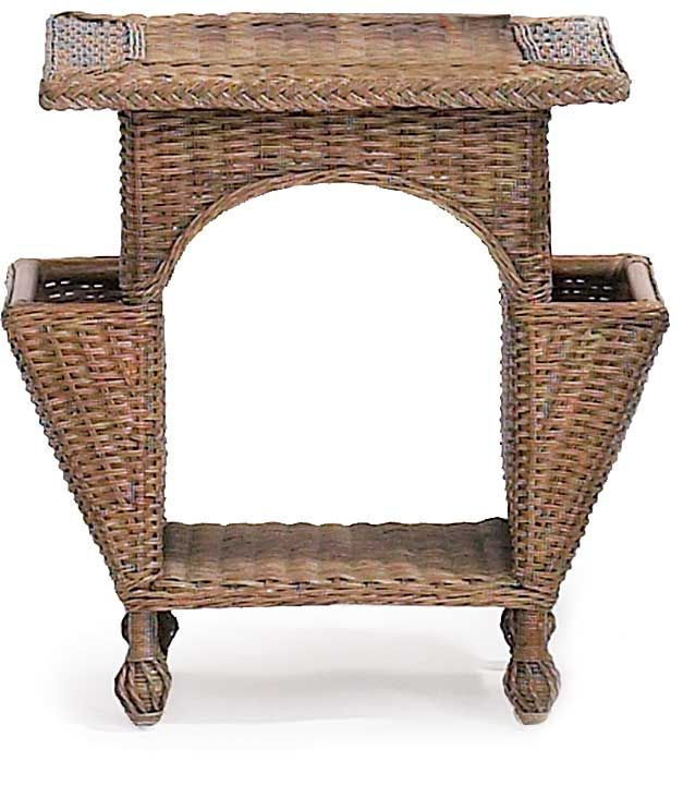 Wicker Reading Table Is An Uncomplicated Attractive And