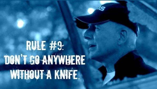 "#Gibbs' Rule #9. Don't go anywhere without a knife. // First mentioned in #NCIS Season 1, Episode 13 - ""One Shot, One Kill"""