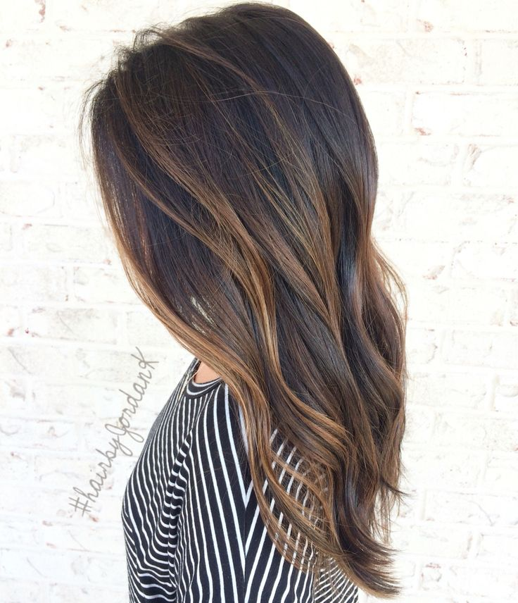 Caramel Balayage On Brown Hair