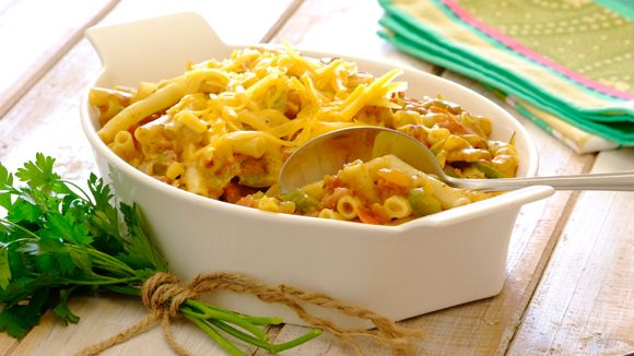 Corned Beef macaroni bake