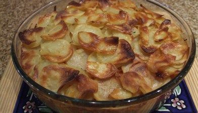 Potato and carrot layer bake
