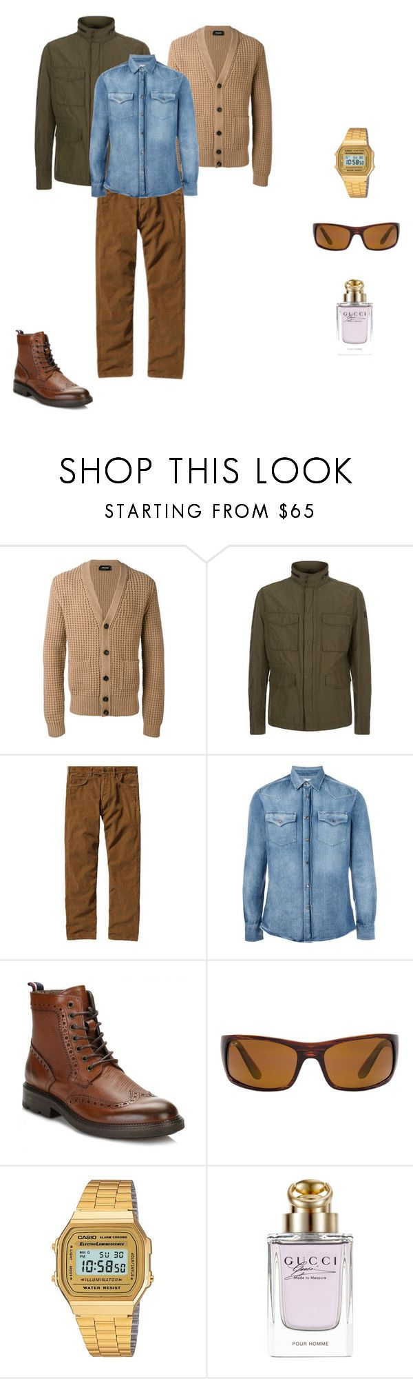 """""""Gettin Jiggy With"""" by lgcrespo on Polyvore featuring Dsquared2, BOSS Orange, Patagonia, Brunello Cucinelli, Tommy Hilfiger, Maui Jim, G-Shock, Gucci, men's fashion y menswear"""