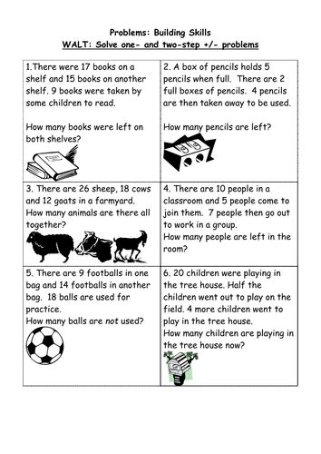 2-Step Problems Building Skills.doc (With images)  Multi step word problems, Math problem