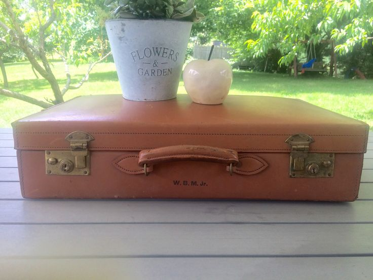 A personal favorite from my Etsy shop https://www.etsy.com/listing/542137438/brown-leather-suitcase-made-in-england